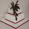 Calla Cascade Wedding Cake