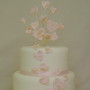 Lace Hearts Wedding Cake