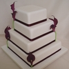 Burgundy Cala Lily Wedding Cake