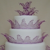 Jewelled Crown Wedding Cake