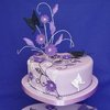 Lilac Hearts Wedding Cake