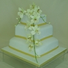 Orchid Cascade Wedding Cake