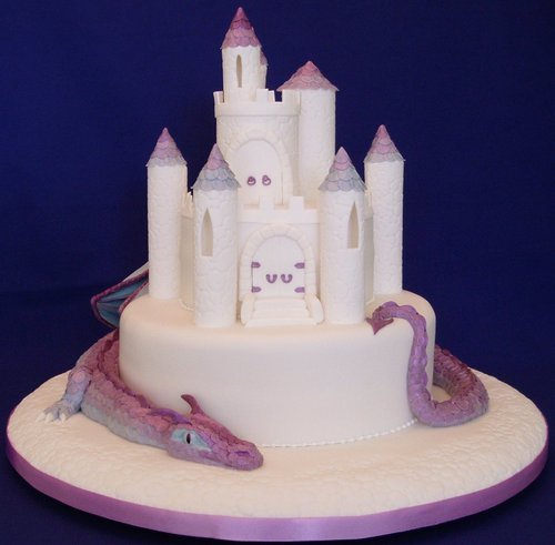 Castle Iced On Cake